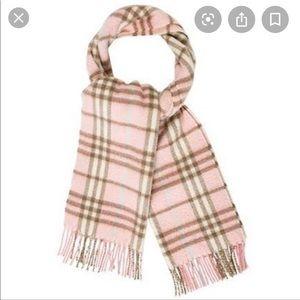 Burberry Cashmere Nova Check Candy Pink Scarf
